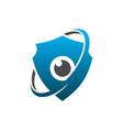 eye protection guard shield logo concept vector image vector image