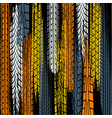 four color tire track wallpaper vector image vector image