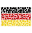 germany flag collage of six pointed star items vector image vector image