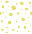 Gold painted marker dots seamless pattern