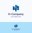 H company logo vector image vector image