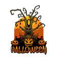halloween tree happy vector image