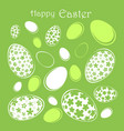 happy easter abstract postcard background vector image vector image