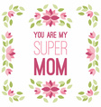 Happy Mothers Day Hand-drawn Greeting Card with