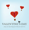 happy valentine s day greeting card with hearts vector image vector image