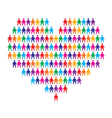 Heart with people background
