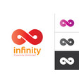 infinity symbol with color gradient red violet vector image
