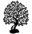 lime tree silhouette vector image