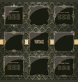lixury golden frames and borders set vector image