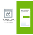 login secure web layout password lock grey logo vector image