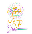 mardi gras party mask vector image vector image