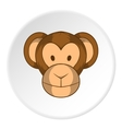 Monkey face icon cartoon style vector image vector image