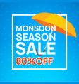 monsoon sale offer rain season background rainy vector image vector image