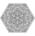 mosaic hand drawn mandala octahedron figure vector image