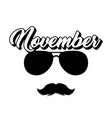moustaches and sunglasses isolated clipart vector image vector image