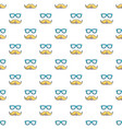 nerd glasses and mustaches pattern seamless vector image