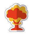 nuclear explosion isolated icon vector image