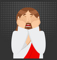 omg jesus is facepalm oh my god christ is vector image vector image