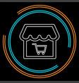 online store icon logo element vector image