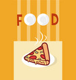 pizza italian fast food cartoon menu cover vector image