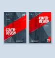 red brochure design a4 cover template vector image