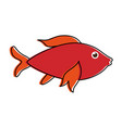 red fish sideview icon image vector image