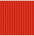Red knitted seamless pattern vector image vector image