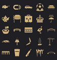 relocation icons set simple style vector image vector image