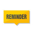 reminder price tag vector image vector image