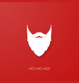 santa claus beard silhouette isolated on red vector image
