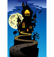 scene with halloween mansion 2 vector image vector image