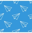 Seamless pattern with paper planes vector image