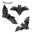 set bats a collection terrible bats vector image vector image