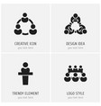 set of 4 editable community icons includes vector image vector image