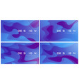 set of abstract gradient geometric designs vector image vector image