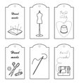 Set of lables for hand sewn vector image vector image