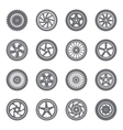 set wheel rims vector image vector image
