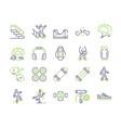skateboarding symbols color linear icon set vector image vector image