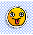 smile shows tongue vector image