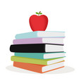 stack color books vector image