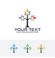 tree color logo vector image vector image