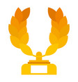 trophy wreath leafs crown award vector image vector image