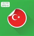 turkey sticker flag icon business concept turkey vector image