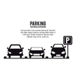 vehicle parking zone design vector image