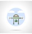 Video drone flat color design icon