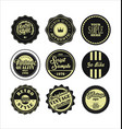 vintage labels black and beige set 2 vector image vector image