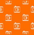 vintage photo camera pattern seamless vector image vector image