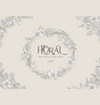 vintage wreath with floral frame vector image vector image