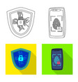 virus and secure symbol vector image