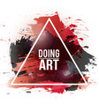 watercolor-art-doing-red vector image vector image